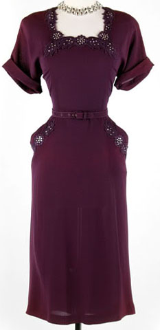 Cocktail Dress on 40s Cocktail Dress Purple 1 Jpg
