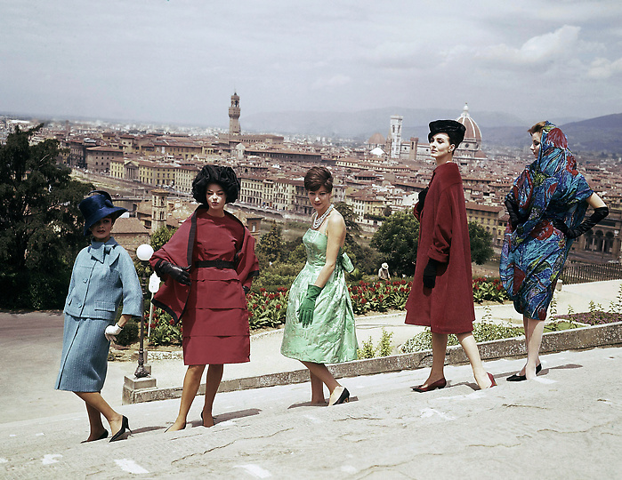 Dresses by farsoni fashion house in rome from 1967
