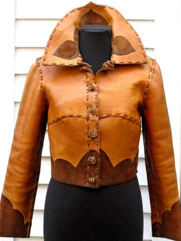 70s Leather Suede Hippie Jacket