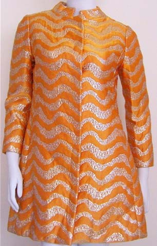 60s Oscar De La Renta Silk Dress Jacket Jane Derby
